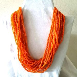 Multistrands  Necklace, Afrocentric Necklace